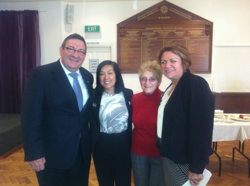 Steve Georganas MP, Nina Telford, Maria Nagy, and Anna Howard
