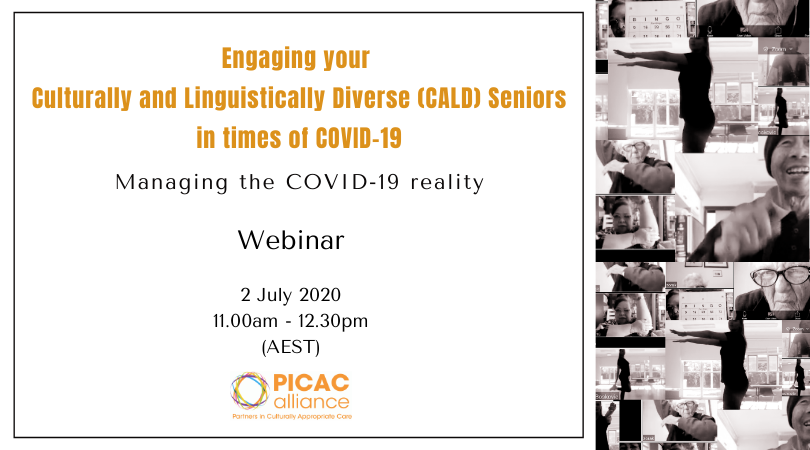 """Engaging your Culturally and Linguistically Diverse (CALD) Seniors in times of COVID-19"" Webinar – Register Now"