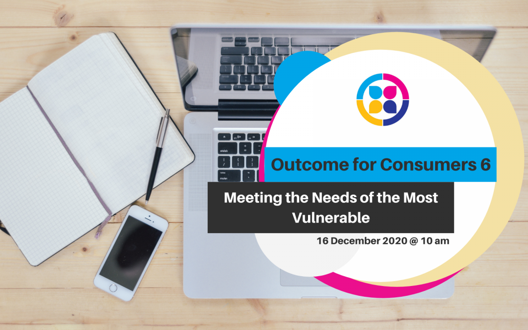 Diversity Framework Action Plan for Aged Care Providers – Outcome for Consumers 6: Meeting the needs of the most vulnerable